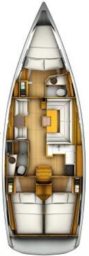 Sun Odyssey 419 yacht layout