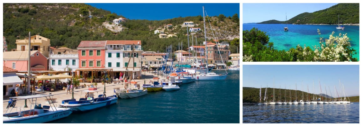 Ionian Fiskardo Route 1 week flotilla sailing holiday itinerary