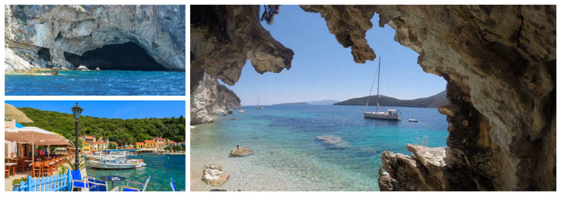 Ionian Kalamos Route 1 week flotilla sailing holiday itinerary