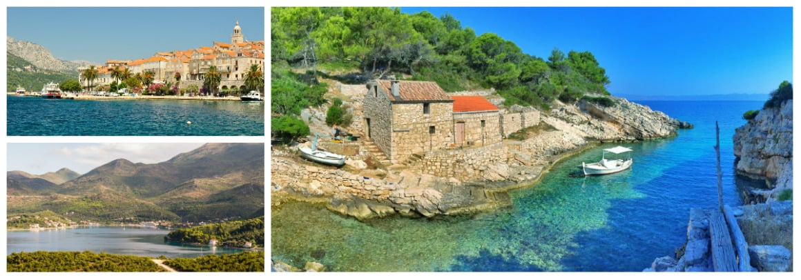 Korcula Route 1 week flotilla sailing holiday itinerary