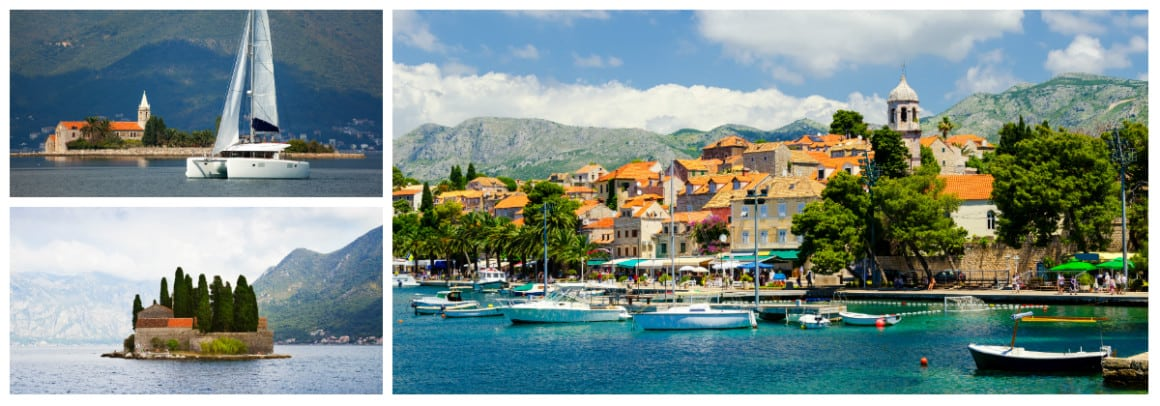 Montenegro Route 1 week flotilla sailing holiday itinerary