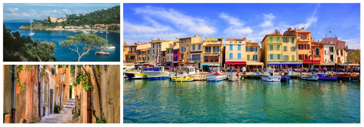 Cote D'Azur St Tropez Route 1 week flotilla sailing holiday itinerary